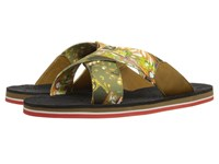Etro Crisscross Printed Sandal With Paisley Footbed Multi Print Men's Sandals