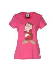 Duck Farm Topwear T Shirts Women Fuchsia