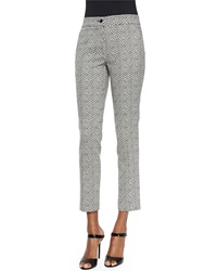 Etro Pebble Print Slim Capri Pants