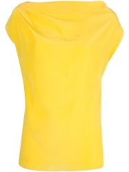 Vionnet Draped Top Yellow And Orange