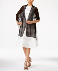 Inc International Concepts Beaded Border Evening Wrap Only At Macy's Black