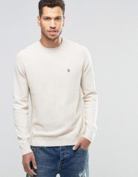 Original Penguin Chevron Front Knitted Jumper Tan