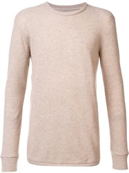 The Elder Statesman Crew Neck Jumper Nude Neutrals