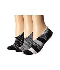Converse 3 Pack Made For Chucks Shadow Stripes Black Egret Women's No Show Socks Shoes
