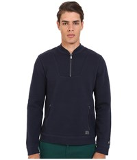 Original Penguin Long Sleeve Vintage Gym Quarter Zip Track Jacket Dark Sapphire Men's Jacket Blue
