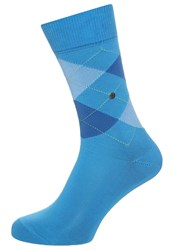 Burlington King Socks True Blue