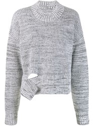 Maison Martin Margiela Deconstructed Chunky Knit Sweater Grey
