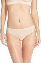 Women's Nordstrom Lingerie Seamless High Cut Briefs Beige Soft