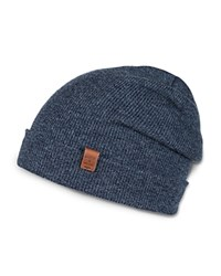 Bickley And Mitchell Merino Wool Turncuff Beanie Indigo