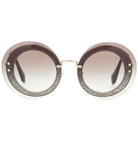 Miu Miu Round Sunglasses Grey
