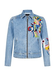 House Of Holland Goulding Embroidered Jacket Blue