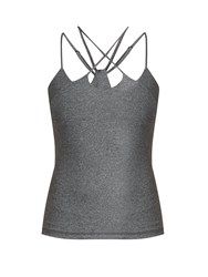 Track And Bliss Dash Criss Cross Performance Top Grey