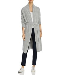 Alison Andrews Long Belted Cardigan Light Gray