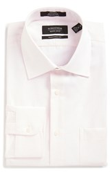Nordstrom Men's Big And Tall Men's Shop Traditional Fit Non Iron Check Dress Shirt Pink Snow