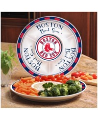 Memory Company Boston Red Sox Ceramic Round Chip And Dip Plate Assorted