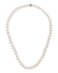 Belpearl 18K Single Strand Akoya Pearl Necklace 18 L