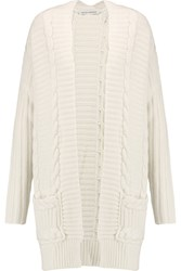 Autumn Cashmere Cable Knit Cardigan White