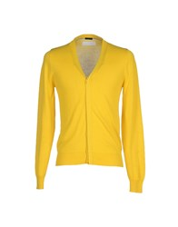 Paolo Pecora Knitwear Cardigans Men Yellow