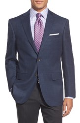 David Donahue 'Conner' Classic Fit Solid Stretch Wool Sport Coat Blue