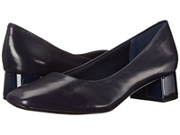 Trotters Lola Navy Dress Kid Leather Women's 1 2 Inch Heel Shoes