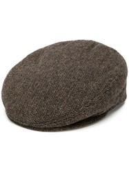 Isabel Marant Herringbone Textured Hat Brown