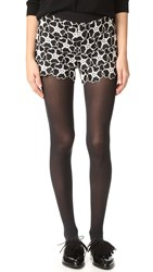 Alice Olivia Amaris High Waisted Lace Shorts Black White