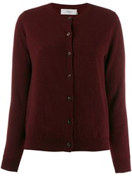 Pringle Of Scotland Knit Buttoned Cardigan Red