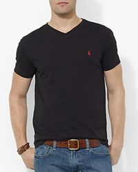 Polo Ralph Lauren Cotton V Neck Tee Black
