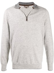 N.Peal The Carnaby Zipped Jumper Grey