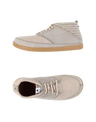Volta Lace Up Shoes Light Grey