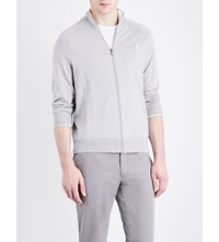 Polo Ralph Lauren Zip Up Pure Cotton Cardigan Rugby Heather