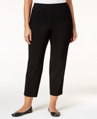 Alfred Dunner Plus Size City Life Collection Stretch Cropped Pants Black