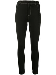 Versace Jeans Couture Contrasting Stitching Leggings 60