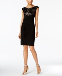 Connected Petite Sequined Sheath Dress Black