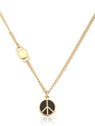 Marc By Marc Jacobs Enameled Brass Peace Pendant Necklace