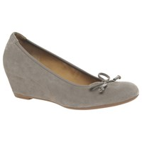 Gabor Alvin Concealed Wedge Heeled Court Shoes Taupe