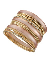 Rj Graziano R.J. Graziano Mixed Metal Multi Bangle Set Nude