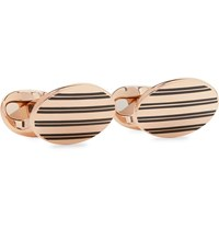 Kingsman Deakin And Francis Rose Gold Plated And Enamel Cufflinks Rose Gold