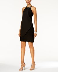 Xscape Evenings X By Embellished Halter Dress Black