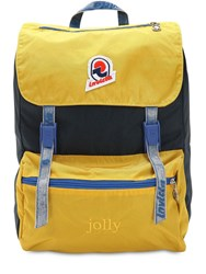 Invicta Jolly Backpack W Vintage Effect Yellow Blue