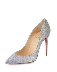 Christian Louboutin Pigalle Follies Glitter 100Mm Red Sole Pump Drage Women's Size 40.0B 10.0B