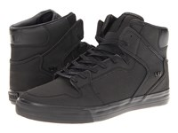 Supra Vaider Black Satin Tuf Skate Shoes