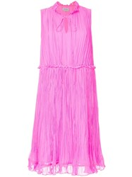 Ck Calvin Klein Crinkle Easy Dress Pink And Purple