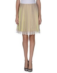 Gold Case Skirts Knee Length Skirts Women Sand