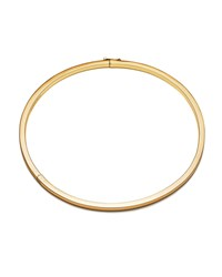 Eddie Borgo Cuboid Plated Brass Collar Necklace Gold