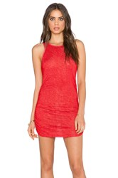 Saint Grace Holly Muscle Dress Red