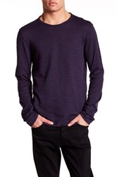 John Varvatos Long Sleeve Crew Neck Sweater Purple