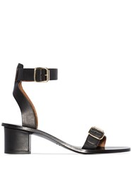 Atp Atelier Carmen 45Mm Ankle Strap Sandals Black