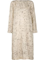 Dosa Tunic Dress Nude And Neutrals