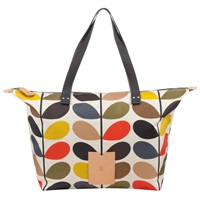 Orla Kiely Classic Multi Stem Zip Shoulder Bag Multi